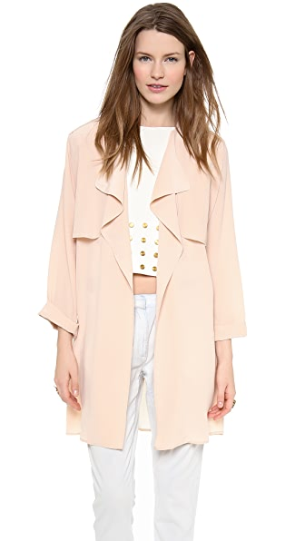 Rachel Zoe Houston Silk Trench Jacket