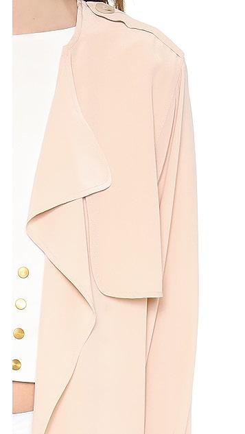 Rachel Zoe Houston Silk Trench Jacket