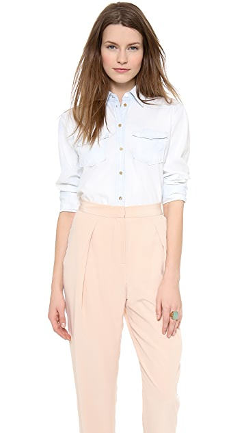 Rachel Zoe Nanties Chambray Button Down