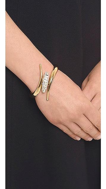 Rachel Zoe Pave Pod Hinge Bangle Bracelet