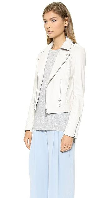 Rachel Zoe Shay Zip Leather Biker Jacket