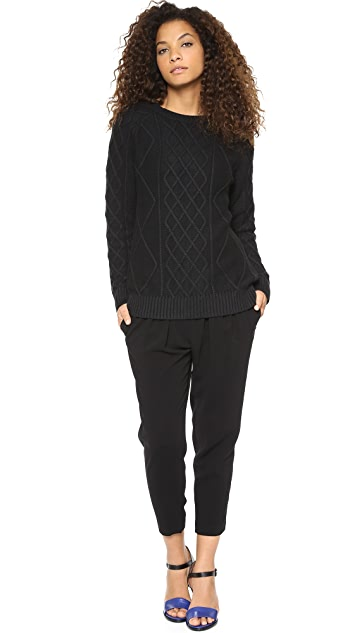 Rachel Zoe Rocco Allover Cable Sweater