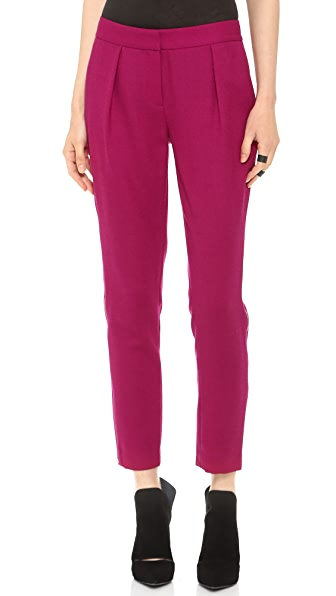 Rachel Zoe Powell Pleated Slouchy Slim Pants