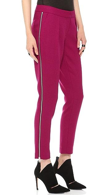 Rachel Zoe Powell Pleated Slouchy Slim Pants
