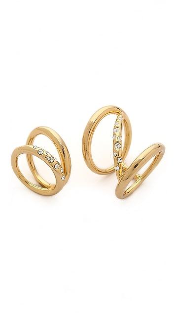 Rachel Zoe Quills Set of 2 Rings