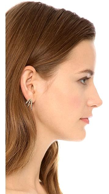 Rachel Zoe Quills Button Earrings