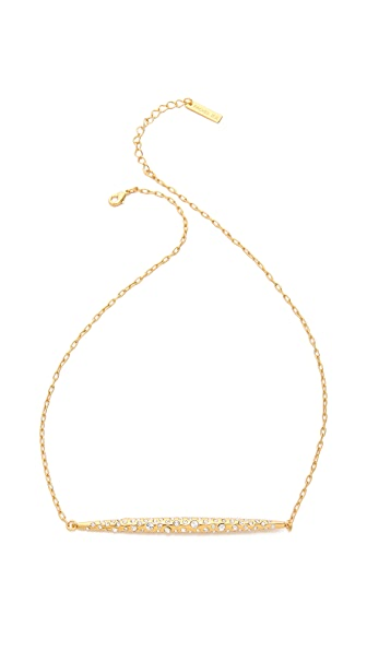Rachel Zoe Quills Pave Bar Necklace