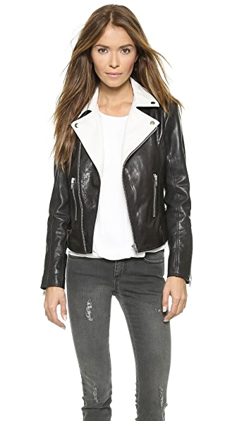 Rachel Zoe Rylan Colorblocked Leather Jacket