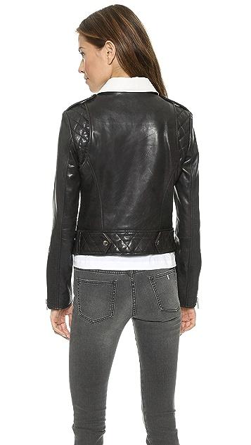Rachel Zoe Rylan Colorblocked Leather Jacket