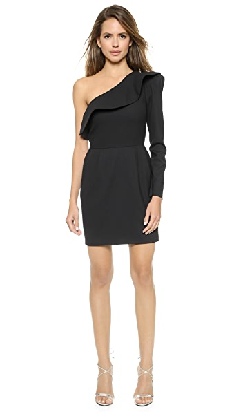 Rachel Zoe Davidson One Shoulder Ruffle Dress