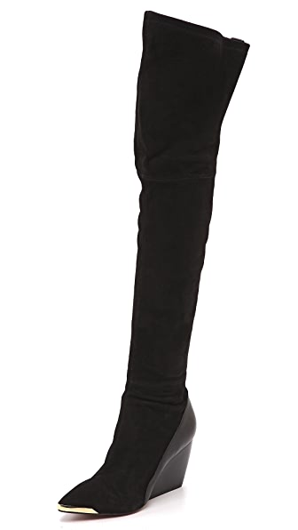 Rachel Zoe Nico Over the Knee Wedge Boots