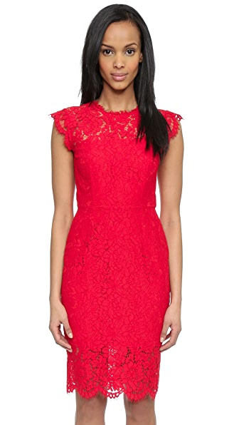 Rachel Zoe Suzette Fitted Dress - Rouge