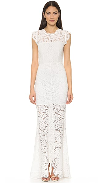 Rachel Zoe Estelle Cutout Maxi Dress - Pure White