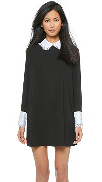 Rachel Zoe Luke Long Sleeve Shirt Collar Dress