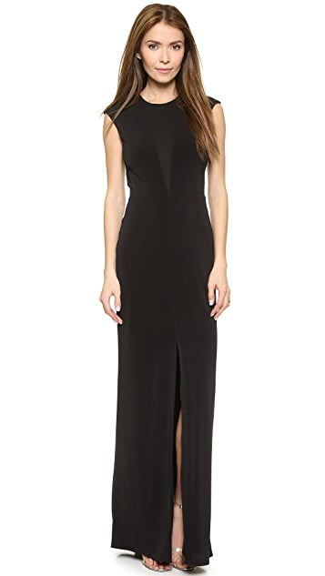 Rachel Zoe Amara Sheer Inset Maxi Dress