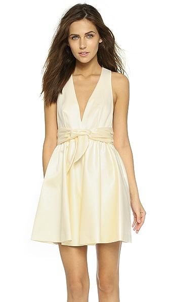 Rachel Zoe Beck Sleeveless Tie Waist Dress - Ivory