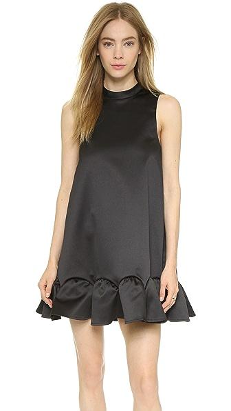 Rachel Zoe Clamencia Sleeveless A Line Dress - Black