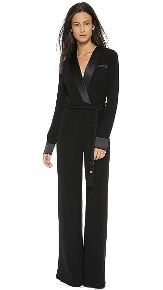 Rachel Zoe Hardy Long Sleeve Tux Jumpsuit - Black