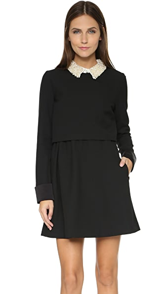 Rachel Zoe Bliss Beaded Collar Flare Dress