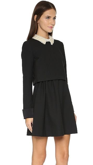 Rachel Zoe Bliss Beaded Collar Flare Dress