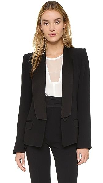 Rachel Zoe Satori Classic Shawl Collar Blazer - Black