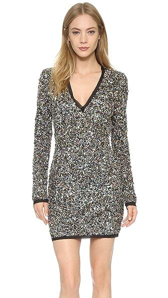 Rachel Zoe Micah V Neck Sequin Dress - Confetti Sequin