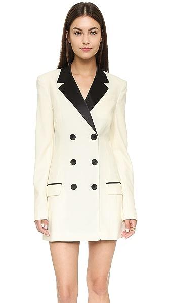 Rachel Zoe Tuxedo Dress - Ivory/Ivory