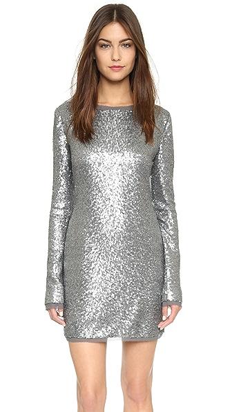 Rachel Zoe Sequin Mini Dress - Grey