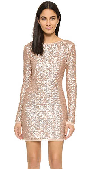 Rachel Zoe Sequin Mini Dress - Rose Gold