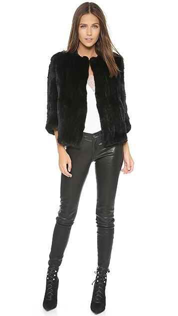 Rachel Zoe Rabbit Fur Jacket
