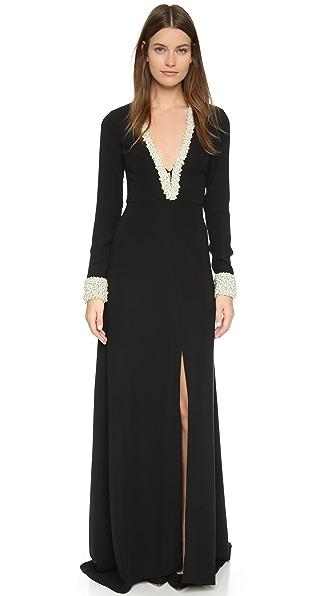 Rachel Zoe Imitation Pearl Embellished Gown