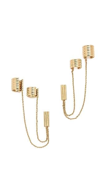 Rachel Zoe Double Ear Cuff Earrings