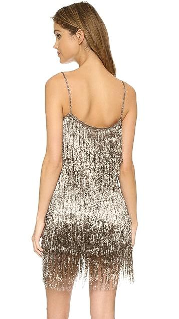 Rachel Zoe Della Fringe Metallic Mini Dress