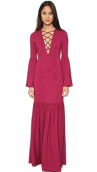 Rachel Zoe Pax Lace Up Gown