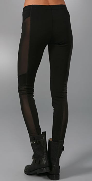 Rag & Bone Moto Leggings with Mesh