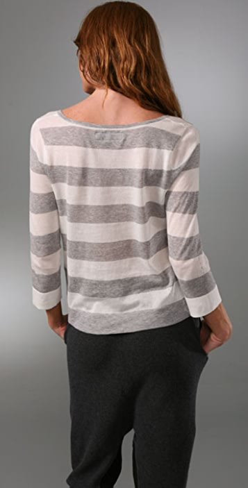 Rag & Bone 3/4 Wide Stripe Sweater