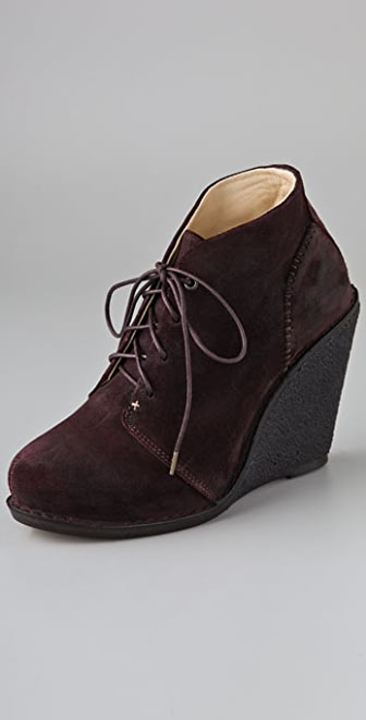 Rag & Bone Odval Desert Suede Wedge Booties