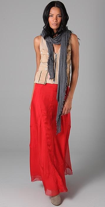 Rag & Bone Long Feather Skirt