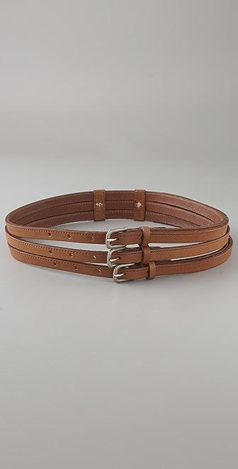 Rag & Bone Triple Buckle Belt