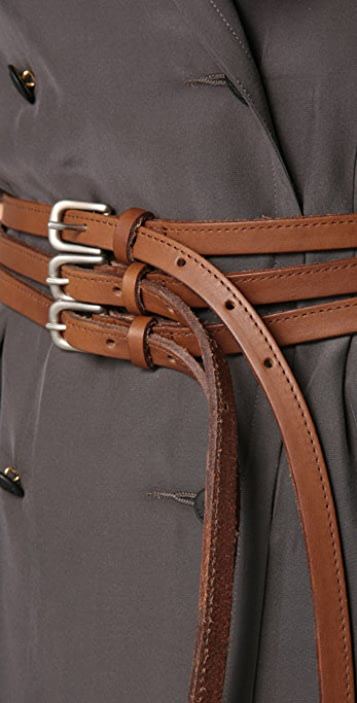 Rag & Bone Triple Buckle Belt