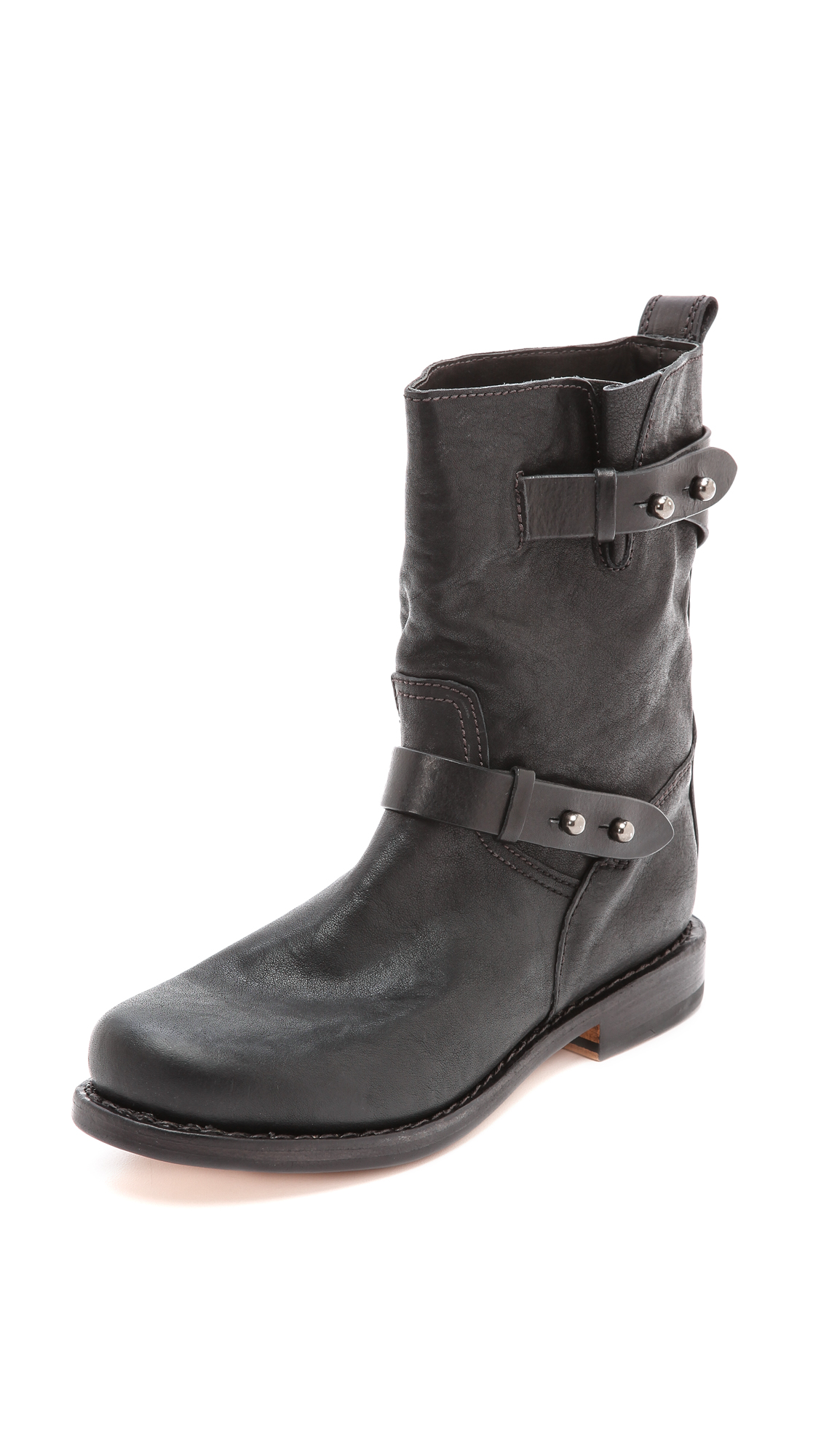 rag bone female rag bone moto boots ii black