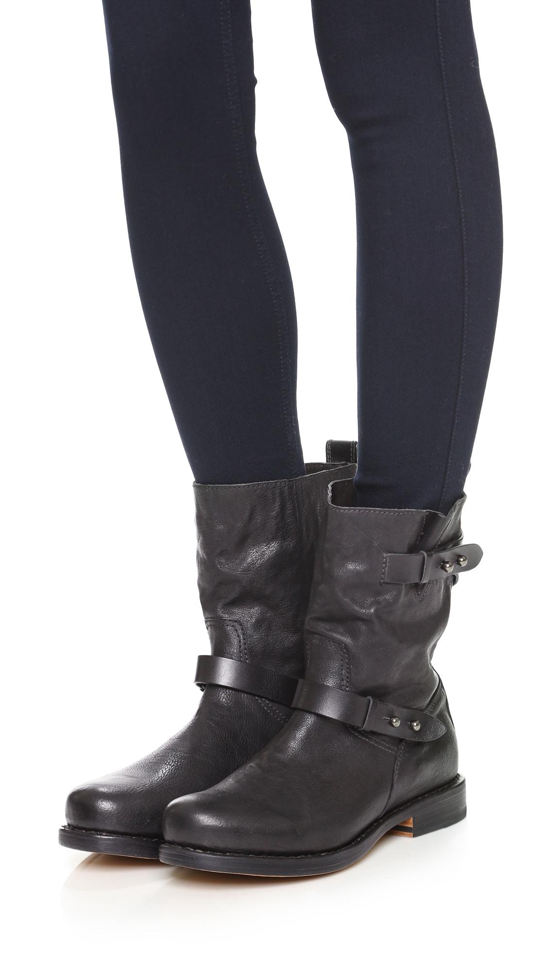 RAG&BONE Leather Biker Boots HwrWAjyo