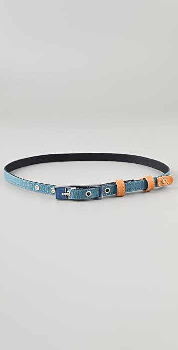 Rag & Bone Enamel Skinny Belt