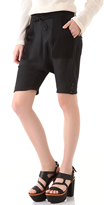 Rag & Bone Ordell Silk Shorts