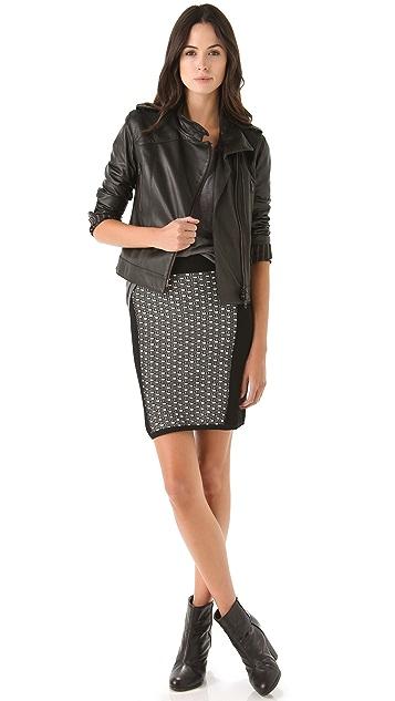 Rag & Bone Datia Knit Panel Skirt
