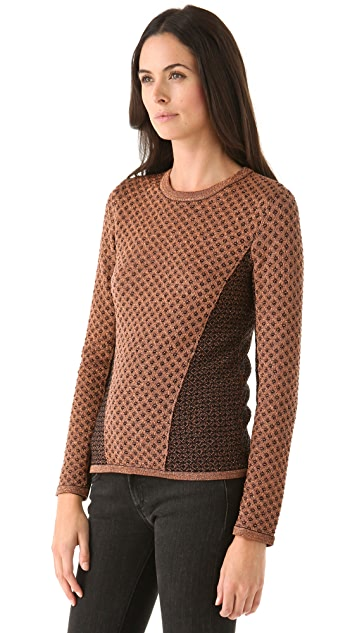 Rag & Bone Amanda Metallic Crew Sweater