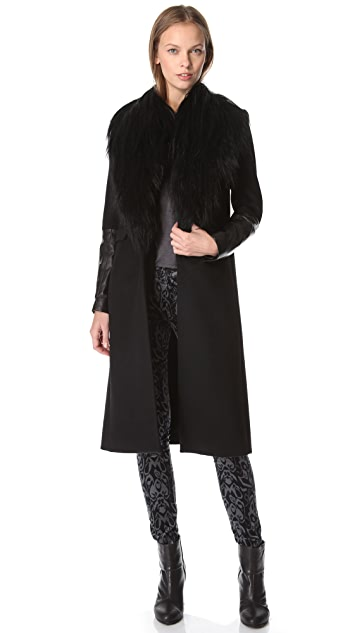 Rag & Bone Scalpel Coat with Fur
