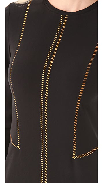 Rag & Bone Raj Copper Stitch Dress
