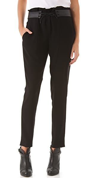 Rag & Bone Ravi Pants with Leather Waist