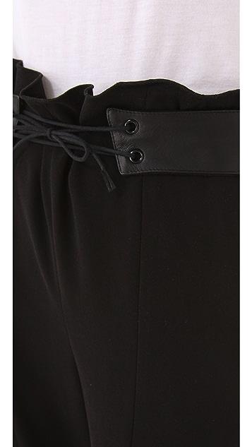 Rag & Bone Ravi Pants with Leather Waist